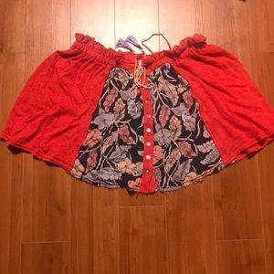 Free People mini skirt size small